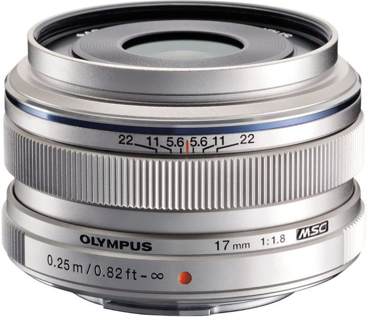 M.Zuiko DIGITAL 17mm F1.8 argent Objectif Olympus 785300129915 Photo no. 1