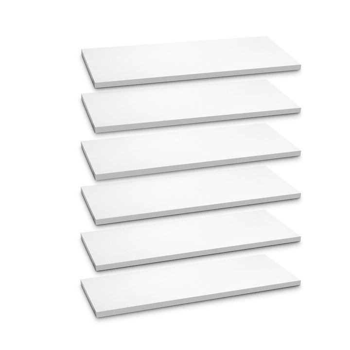 ANGELO Set di ripiani 362018734504 Dimensioni L: 90.0 cm x P: 36.0 cm x A: 2.2 cm Colore Bianco N. figura 1