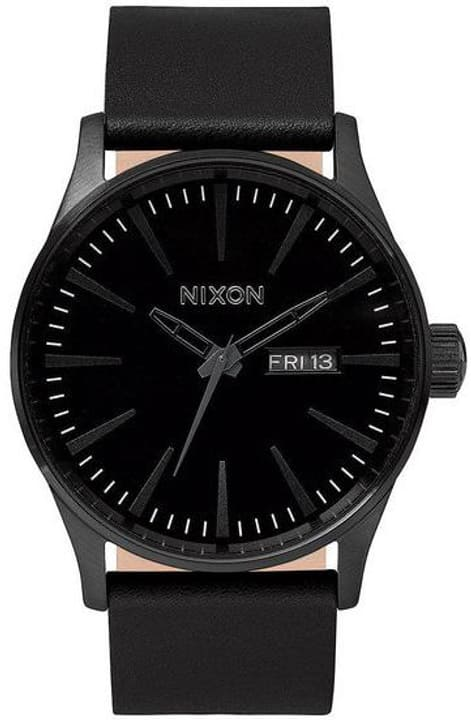 Sentry Leather All Black 42 mm Montre bracelet Nixon 785300136946 Photo no. 1