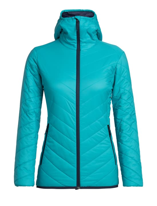 Hyperia Hooded Veste isolante pour femme Icebreaker 462763200344 Couleur turquoise Taille S Photo no. 1