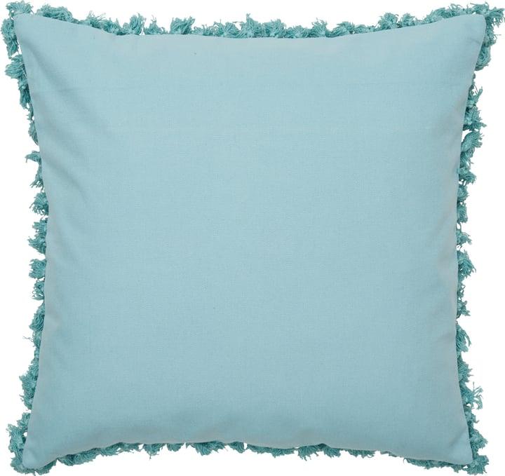 INDIA Coussin 450741340840 Couleur Bleu Dimensions L: 45.0 cm x H: 45.0 cm Photo no. 1
