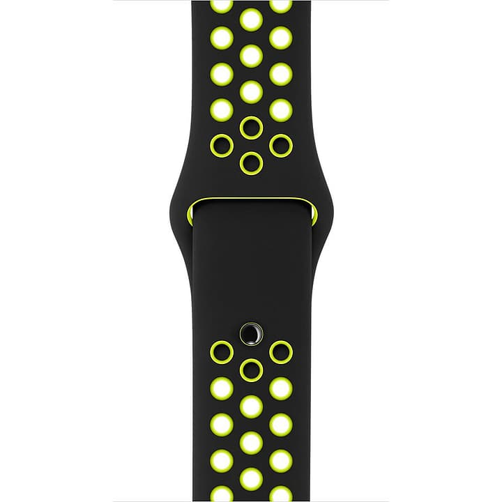 42 mm Nike, Schwarz/Volt – S/M und M/L Sportarmband Apple 785300128924 Bild Nr. 1