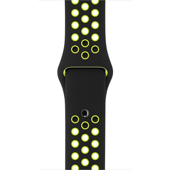 42 mm Nike Sportarmband, Schwarz/Volt – S/M und M/L Apple 785300128924 Bild Nr. 1