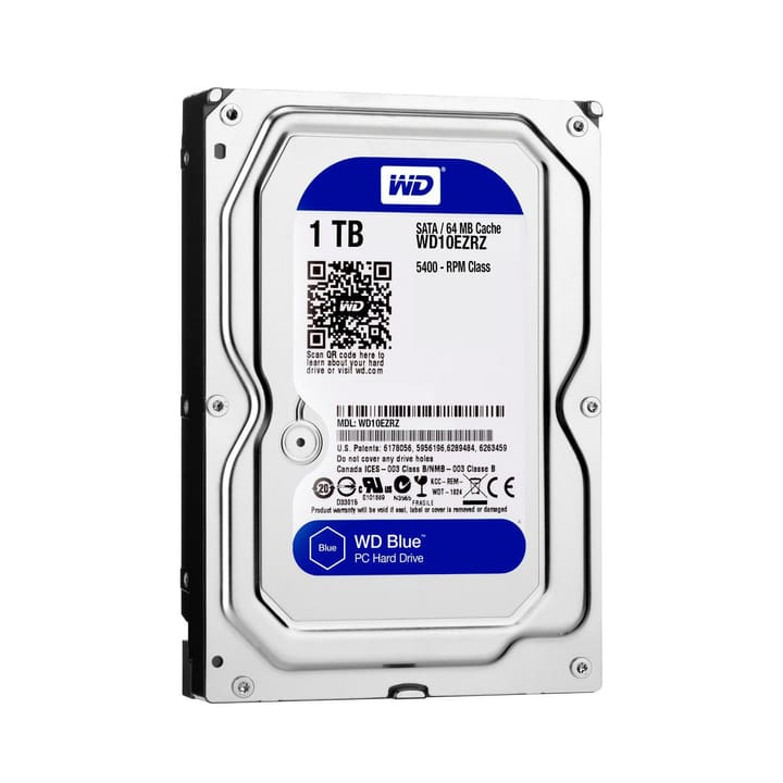 "Blue 1To SATA 3.5"" 5400 Disque Dur Interne HDD Western Digital 785300126641 Photo no. 1"