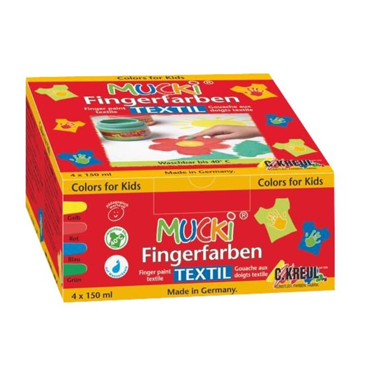 Mucki Fingerfarben, 4er-Set, Textil C.Kreul 665504700000 Bild Nr. 1