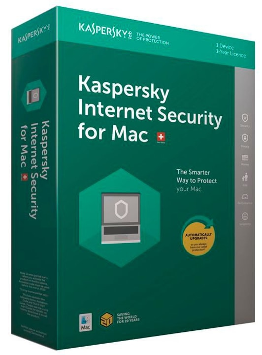 Mac - Internet Security (1 PC) Upgrade Physique (Box) Kaspersky 785300130268 Photo no. 1