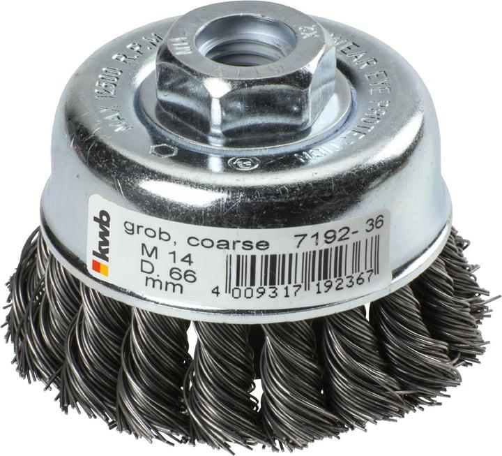 AGGRESSO-FLEX® Spazzola a tazza, filo di acciaio, intrecciato, ø 66 mm kwb 610523700000 N. figura 1