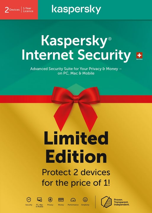 Internet Security 2020 Limited Edition (2 PC, 1Y) [PC/Mac/Android] (D/F/I) Physique (Box) Kaspersky 785300147852 Photo no. 1