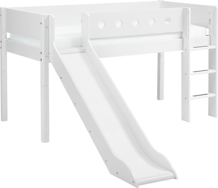 WHITE Lit mi-hauter Flexa 404689100000 Couleur Blanc Dimensions L: 109.0 cm x P: 210.0 cm x H: 120.0 cm Photo no. 1