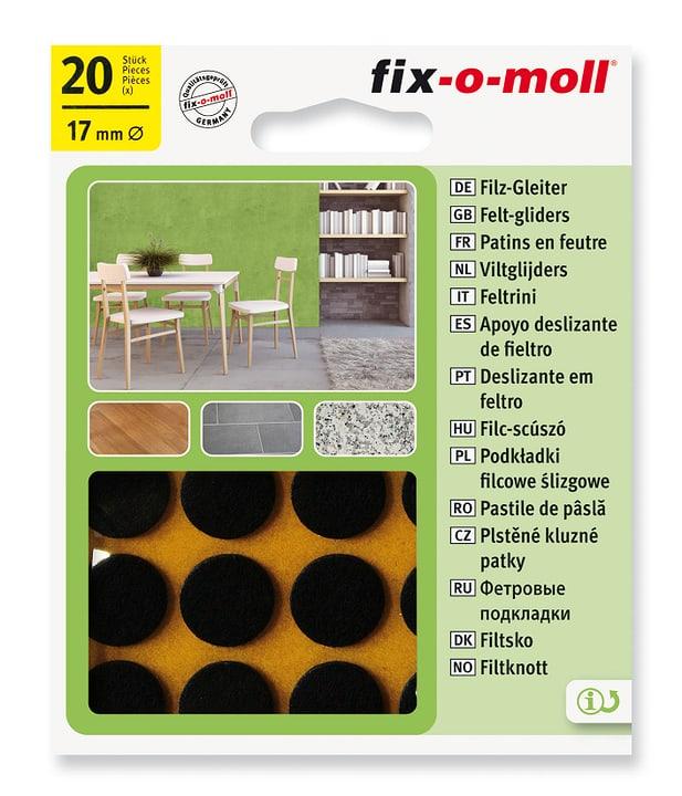 Piedini in feltro 3 mm / Ø 17 mm 20 x Sottopiedini Fix-O-Moll 607067200000 N. figura 1