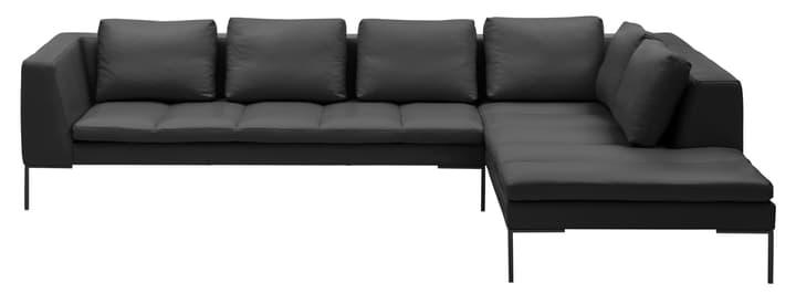 BADER Canapé d'angle 405686150620 Dimensions L: 319.0 cm x P: 230.0 cm x H: 80.0 cm Couleur Noir Photo no. 1