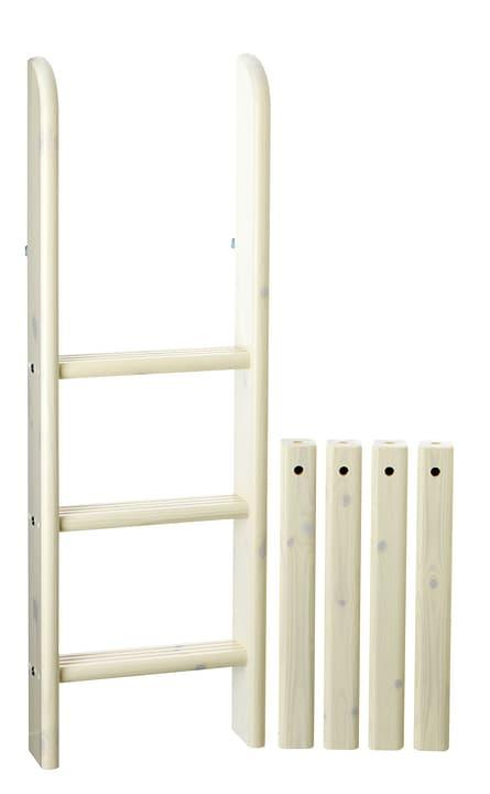 CLASSIC Gerade Leiter Halbhochbett Flexa 404854200000 Grösse B: 41.0 cm x T: 11.0 cm x H: 120.0 cm Farbe White Wash Bild Nr. 1