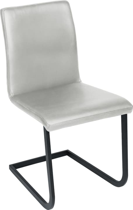 SANTORO Chaise en porte-à-faux 402355700081 Dimensions L: 43.0 cm x P: 55.0 cm x H: 86.0 cm Couleur Gris clair Photo no. 1