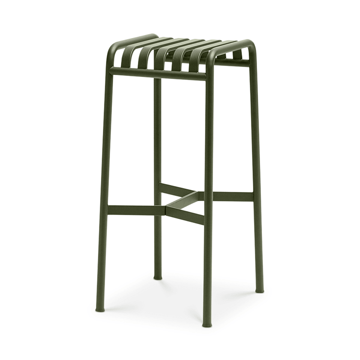 PALISSADE Tabouret de bar HAY 366161600065 Dimensions L: 38.0 cm x P: 45.0 cm x H: 78.0 cm Couleur Olive Photo no. 1