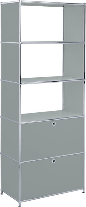 FLEXCUBE Etagère 401815510580 Dimensions L: 77.0 cm x P: 40.0 cm x H: 193.0 cm Couleur Gris Photo no. 1