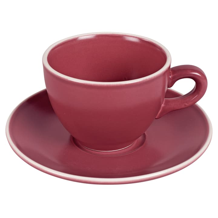 MAELLE Tasse incl. soucoupe 440268600034 Couleur Bordeaux Dimensions H: 7.8 cm Photo no. 1