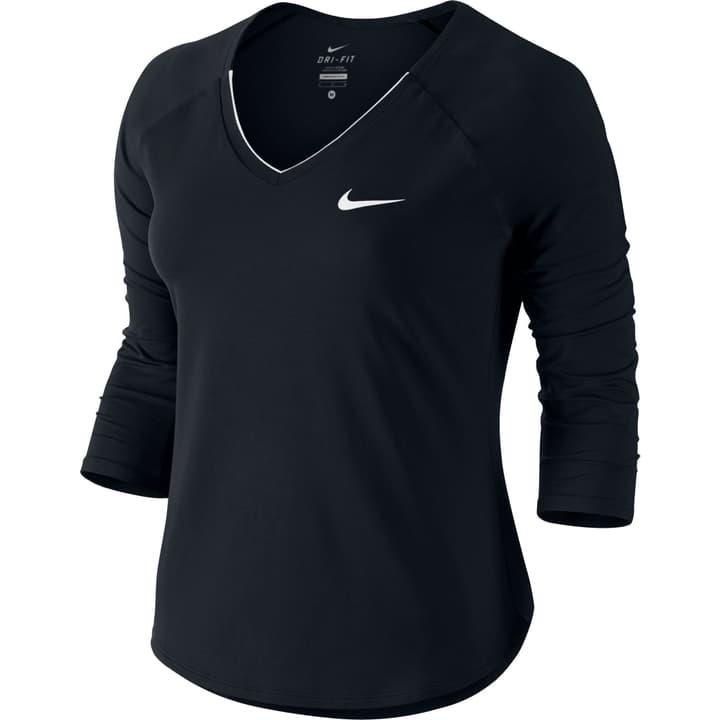 Court Pure Tennis Top Shirt à manches 3/4 pour femme Nike 473218000320 Couleur noir Taille S Photo no. 1