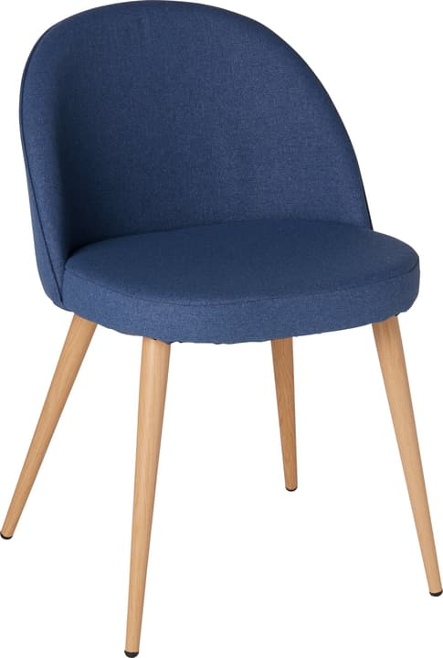 CONTI Chaise 402355900040 Dimensions L: 50.0 cm x P: 56.0 cm x H: 77.0 cm Couleur Bleu Photo no. 1