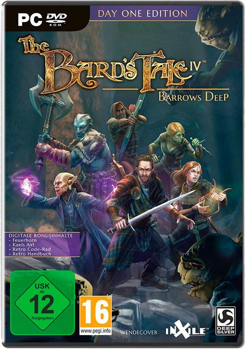 PC - The Bard's Tale IV: Barrows Deep Day One Edition [DVD] (F) Box 785300137767 Photo no. 1