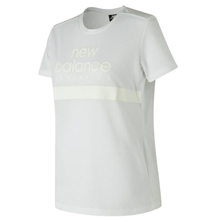 W NB Athletics Mesh Tee T-shirt pour femme New Balance 462382800310 Couleur blanc Taille S Photo no. 1