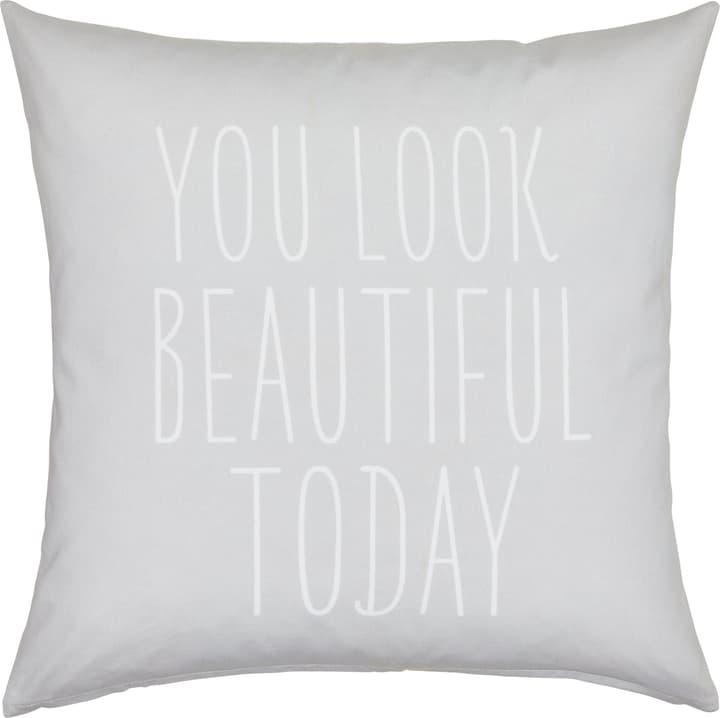 BLANCA Fodera per cuscino decorativo 450760240180 Colore Grigio Dimensioni L: 50.0 cm x A: 50.0 cm N. figura 1