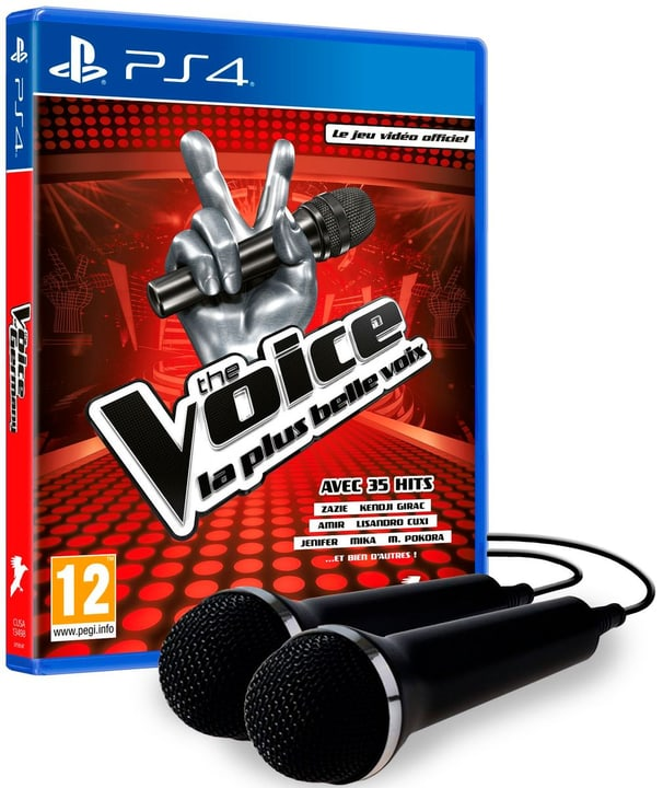 PS4 - The Voice - La plus belle voix (incl. 2 mics) Box 785300141921 Lingua Francese Piattaforma Sony PlayStation 4 N. figura 1