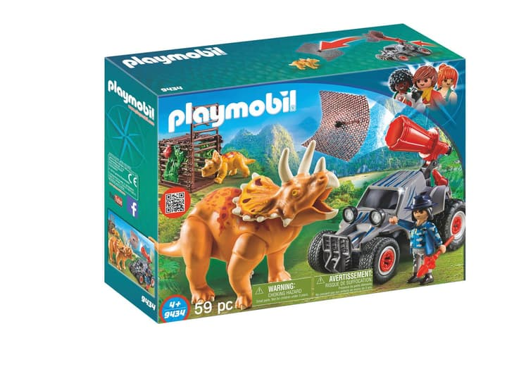 Playmobil Fuoristrada con rete per i dinosauri 9434 746097900000 N. figura 1