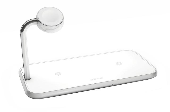 Aluminium Dual Wireless Charger + Watch 10W blanc Chargeur Zens 785300144197 Photo no. 1