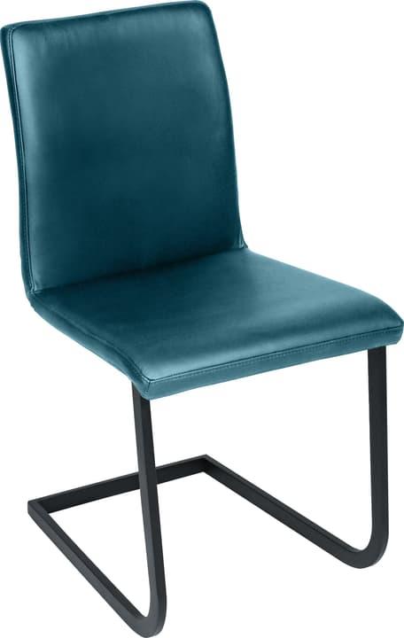 SANTORO Chaise en porte-à-faux 402355700044 Dimensions L: 43.0 cm x P: 55.0 cm x H: 86.0 cm Couleur Turquoise Photo no. 1
