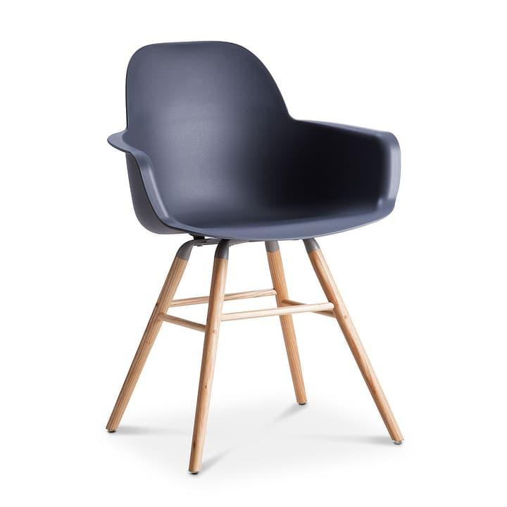ALBERT Chaise avec accoudoirs 366026252801 Dimensions L: 55.0 cm x P: 59.0 cm x H: 81.5 cm Couleur Gris foncé Photo no. 1