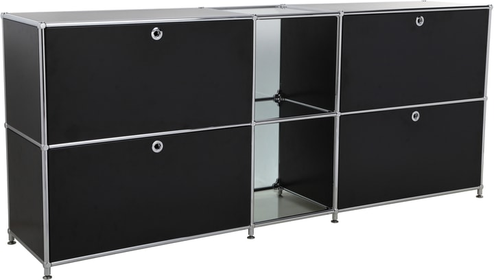 FLEXCUBE Buffet 401814320220 Dimensions L: 189.0 cm x P: 40.0 cm x H: 80.5 cm Couleur Noir Photo no. 1