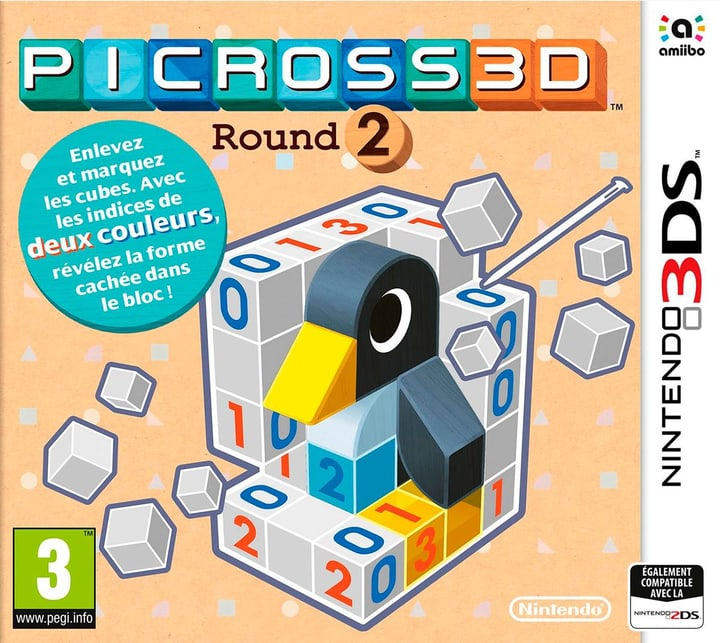 3DS - Picross 3DS Round 2 Box 785300121418 N. figura 1