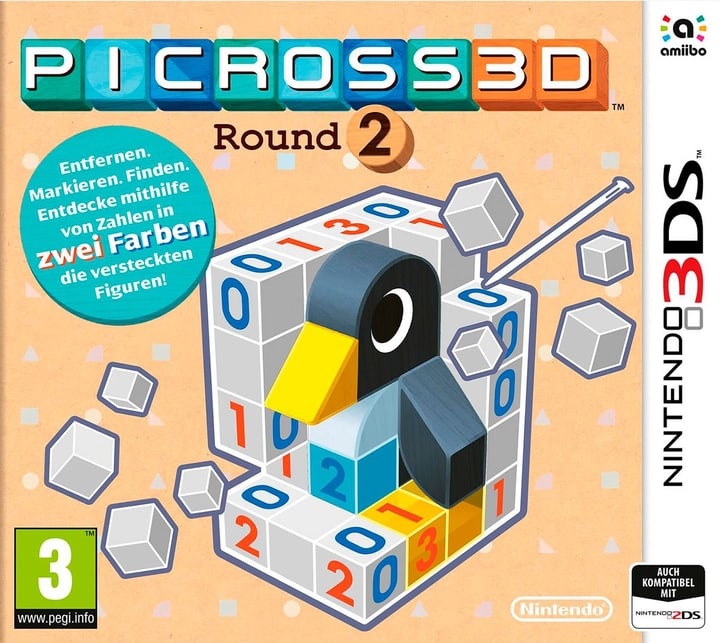3DS - Picross 3DS Round 2 Physique (Box) 785300121419 Photo no. 1