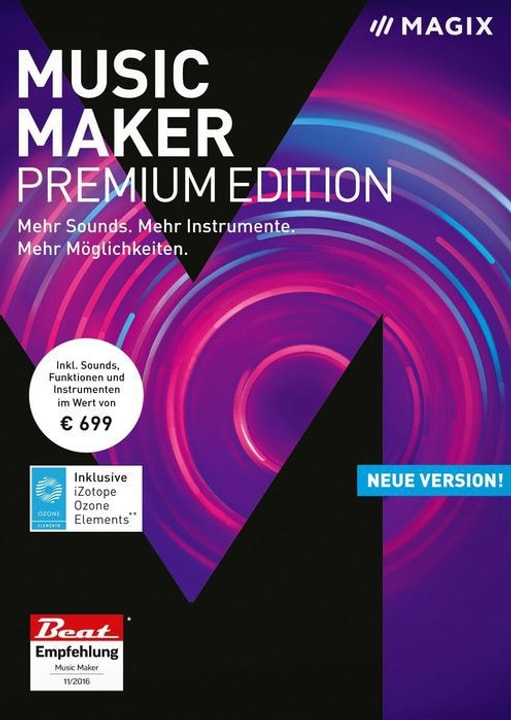 PC - Music Maker Premium 2018 (D) Physisch (Box) Magix 785300129412 Bild Nr. 1