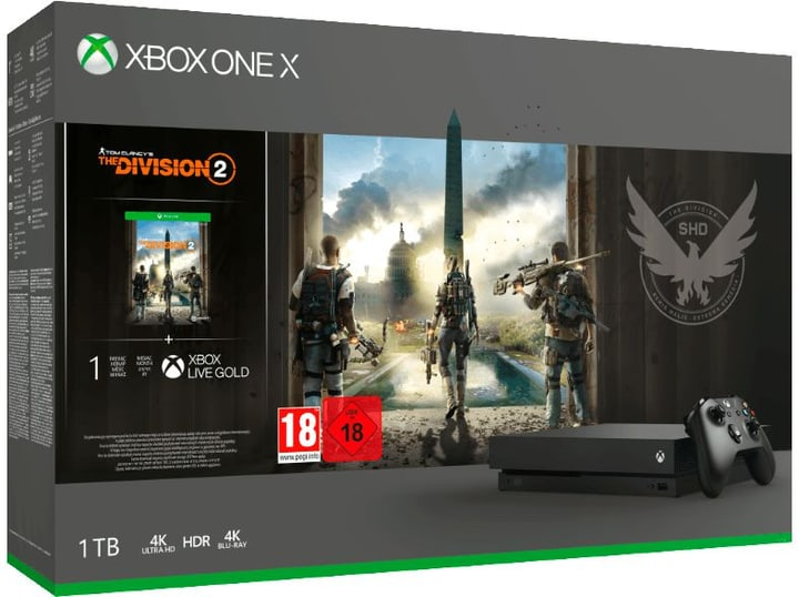 Xbox One X 1TB inkl. The Division 2 Microsoft 785442000000 Bild Nr. 1