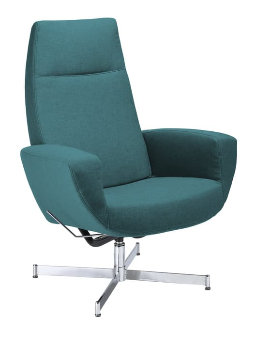 CHARLENE Sessel 402435507066 Grösse B: 77.0 cm x T: 80.0 cm x H: 105.0 cm Farbe Petrol Bild Nr. 1
