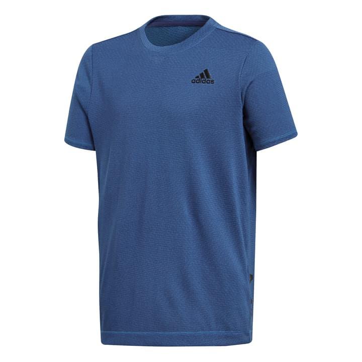 YB TR KNIT TEE Shirt pour garçon Adidas 464528712847 Couleur denim Taille 128 Photo no. 1