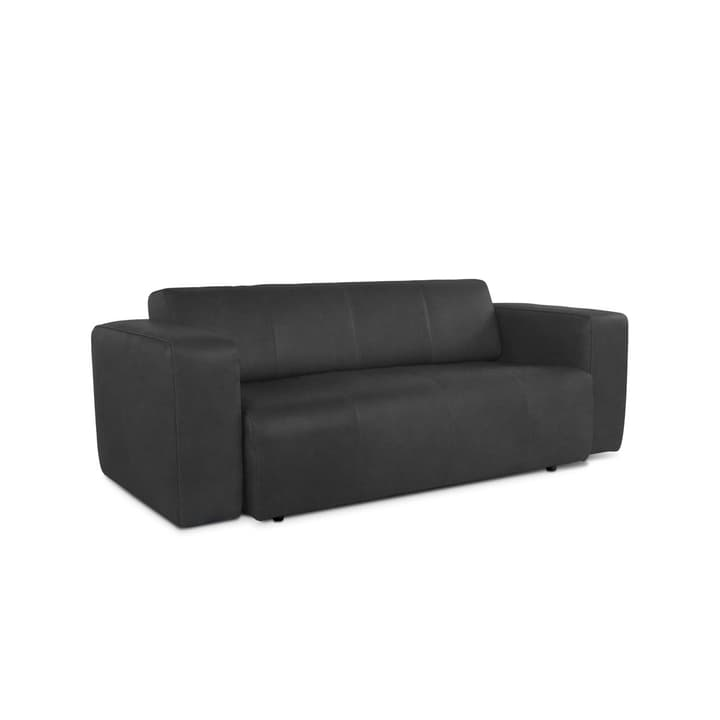 CAMP divano in pelle da 2.5 posti senza motore 360020861606 Dimensioni L: 217.0 cm x P: 100.0 cm x A: 70.0 cm Colore Nero N. figura 1
