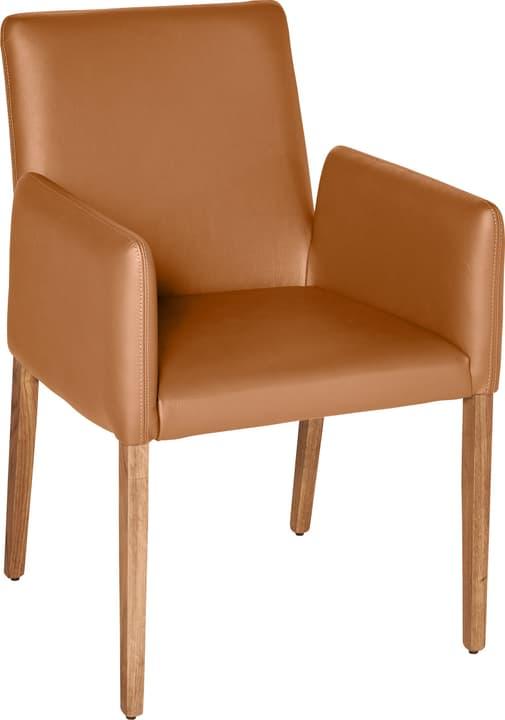 PIRAS Chaise 402358000055 Dimensions L: 58.0 cm x P: 55.0 cm x H: 86.0 cm Couleur Cognac Photo no. 1
