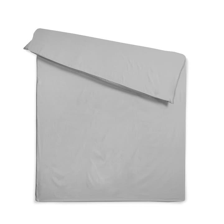 KOS Satin-Duvetbezug 376012277404 Farbe Mausgrau Grösse L: 210.0 cm x B: 160.0 cm Bild Nr. 1