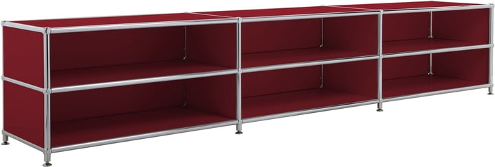 FLEXCUBE Buffet haut 401813730130 Dimensions L: 227.0 cm x P: 40.0 cm x H: 44.5 cm Couleur Rouge Photo no. 1