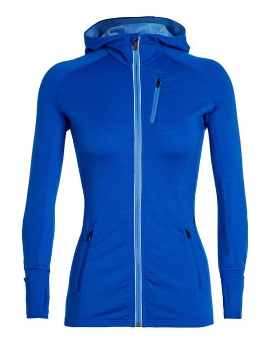 Quantum LS Zip Hood Damen-Fleecejacke Icebreaker 461035500340 Farbe blau Grösse S Bild-Nr. 1
