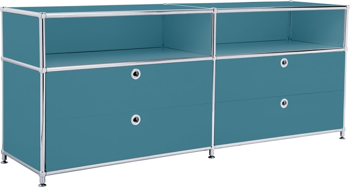 FLEXCUBE Buffet bas 401813920166 Dimensions L: 152.0 cm x P: 40.0 cm x H: 62.5 cm Couleur Pétrole Photo no. 1