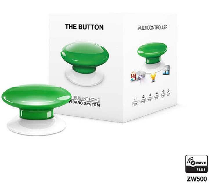 Z-Wave Button verde Bottone intelligente Fibaro 785300132250 N. figura 1