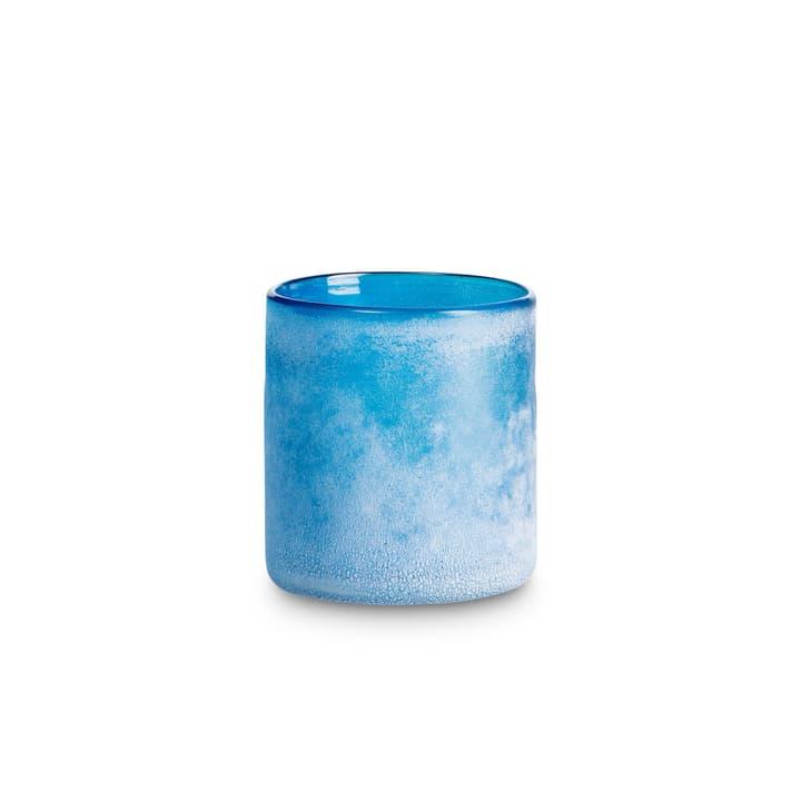 FROSTED Teelichthalter 396064500000 Grösse B: 10.0 cm x T: 10.0 cm x H: 11.0 cm Farbe Dunkelblau Bild Nr. 1