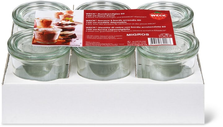 WECK® Bocaux à  bords arrondis-Set Weck 703703600000 Photo no. 1