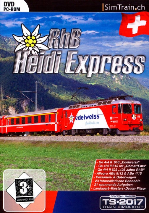 PC - RhB Heidi Express für TS2012 - 2017 Fisico (Box) 785300128234 N. figura 1