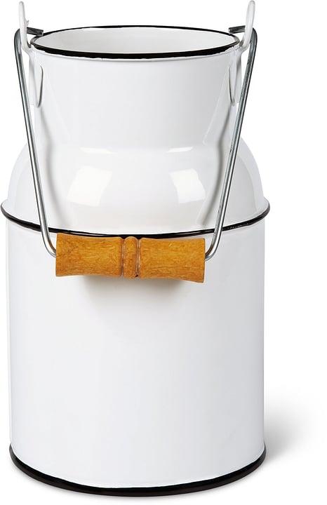 Bidone per il latte con manico in legno 631326900000 Colore Bianco Taglio B: 13.0 cm x T: 10.0 cm x H: 23.0 cm N. figura 1