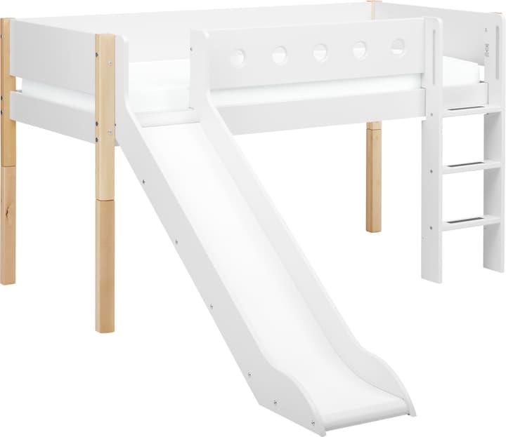 WHITE Lit mi-hauteur Flexa 404912900000 Dimensions L: 249.0 cm x P: 210.0 cm x H: 120.0 cm Couleur blanc / bouleau nature Photo no. 1