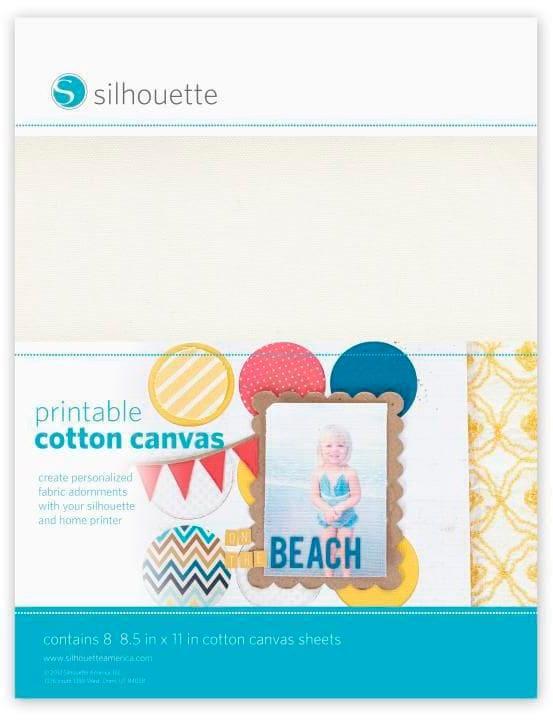Printable cotton canvas Silhouette 785300141886 N. figura 1